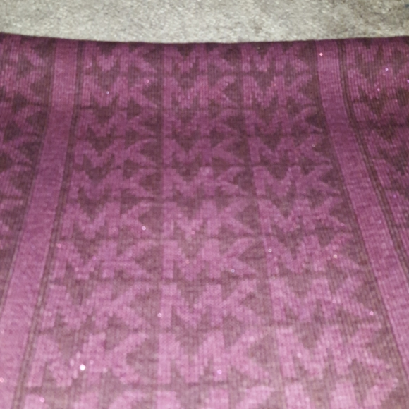 Michael Kors New Purple scarf with sparkle accents